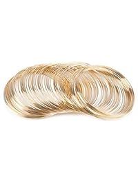 NX Garden 珠宝线 100 圈*钢丝串珠线 首饰制作 包装宝石项链和 DIY 电缆手链 KC 金色 JEWIRE-KCG-100L-1