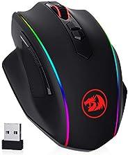 Redragon M686 VAMPIRE ELITE 無線游戲鼠標,16000 DPI 有線/無線游戲鼠標帶專業傳感器,45 小時耐用功率,可定制宏和 RGB 背光,適用于電腦 Mac / 筆記本電腦