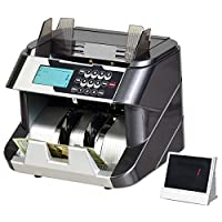 Goplus 钞票计数器 带 UV/MG/IR/DD 防伪检测功能 带 LED 显示屏的钱计数机 专业现金计数机 200 张钞票容量料斗和堆叠器 深灰色