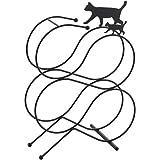 Yoshikawa(Yoshikawa) 马桶收纳 黑色 宽24.3×深13×高32cm 黑猫的厕纸架