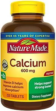 Nature Made 钙 600毫克含维生素D片,220片(包装可能有所不同)