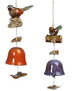 Grasslands Road 陶瓷鸟铃组合,5 英寸,4 件套