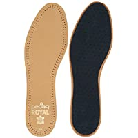 Pedag 102 Royal Vegetable Tanned Sheepskin Insole with Natural Active Carbon Filter, Slightly Padded with Latex Foam, Tan Leather, Men's 10