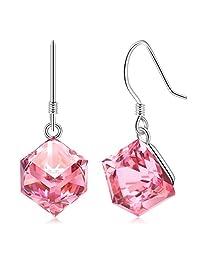 变色 Swarovski 施华洛世奇*珠宝,Cat Eye Jewels S925 纹银 Swarovski 施华洛世奇 Elements *吊坠项链、耳环(海蓝色和粉红色)  Earrings Pink Swarvoski A2
