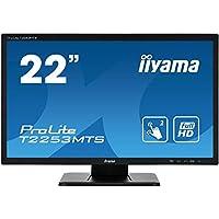 iiyama Prolite T2253MTS-B1 54.7 厘米(21.5 英寸) LED 显示器 全高清 2 点多点多点触控 光学(VGA ,DVI,HDMI,USB)黑色