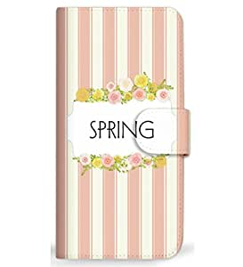 MITAS 智能手机保护壳翻盖型春条纹可爱  粉色 23_Moto G 3rd Gen (XT1541)