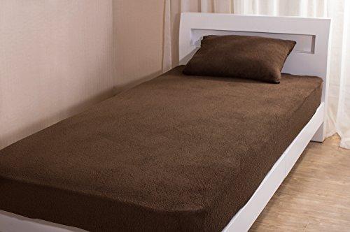 綿*ふわふわ寝具ベッドマットレス(セミダブルベッド) *消臭加工)ブラウン -