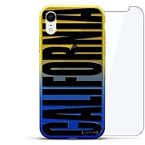 奢华设计师,3D 印花,时尚,高端,高端,Chameleon 变色效果,360 保护玻璃包手机套 iPhone Xr - Dusk Blue Tamara,现代字体名字LUX-IRCRM2B360-CA1 CITIES & STATES: BLACK VERTICAL CALIFORNIA SIGN 蓝色(Dusk)