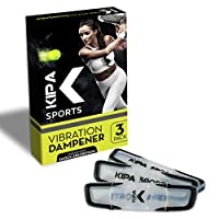 Kipa Sports 网球手球 | 3 件套网球拍 | 优质网球配件 | 网球弦减震器 | 减震器设计用于*小化振动。