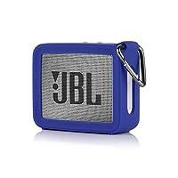 TXEsign 旅行保护硅胶立式手提箱兼容 JBL GO 2 便携式蓝牙防水扬声器
