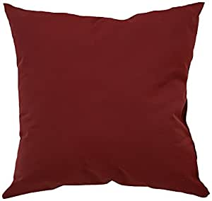 Mansion Solid Outdoor Pillow 酒红色 20 英寸