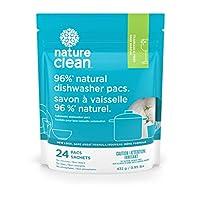 Nature Clean 自动洗碗机清洁 24 pacs/432 g 15.24 ounces 15.24