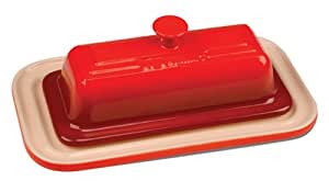 Le Creuset Stoneware Butter Dish, Cherry
