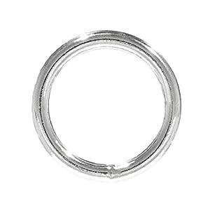 Craft County 焊接钢 O 形环 - 非常适合 DIY 项目、装饰和艺术品 - 多种直径 - 包装尺寸 1 Inch Diameter X 25-Pack 25 X ORING1-WLD-STL-~CFT_TS31518