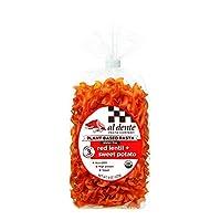 Al Dente Plant Based Pasta Red Lentil + Sweet Potato, 8 Ounce (Pack of 6)