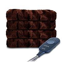 Sunbeam 人造毛皮加热铲,胡桃色 胡桃棕色 50 x 60 英寸 TSP8US-R470-33A00