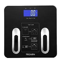 Triomph Precision浴室數字稱重儀,帶背光 LCD 顯示屏,可分析各種數據,包括重量,身體脂肪,體內水分,身體質量指數,肌肉,骨量,和卡路里等,*可承載400磅的重量(約181.4公斤),精密的*顯示器 1