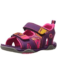 pediped Girls' Navigator Flat, Purple Swirl, 29 E EU/12-12.5 E US Little Kid