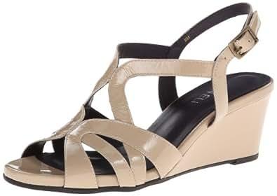 VANELi Miriam 女士坡跟凉鞋 Ecru Mag Patent 9.5 M US