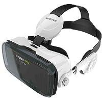 Rorsche 智能眼镜 小宅Z4智能3D眼镜VR一体机 成人虚拟现实眼镜头戴式游戏头盔资源 VR虚拟现实眼镜一体机成人手机3D智能眼镜影院沉浸式游戏 Z4 (黑白色)