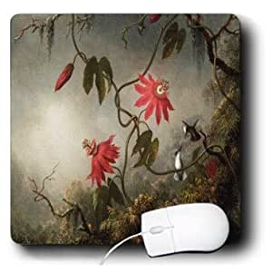 Red Plum Blossom Designed Oblong-Shaped Mouse Pad