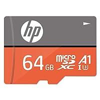 【Amazon.co.jp限定】HP microSDXC卡 64GB 橙色 A1 UHS-I(U3) 4K Ultra HD适用 *大读取速度 100MB/s 1年保修