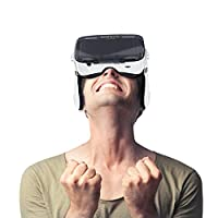 Moveski 小宅Z4 升级版 VR 3d虚拟现实眼镜头盔暴风魔镜智能手机3D眼镜 宽广视野FOV120度大视角 沉浸式自带 带立体耳机 高清镜片 模拟IMAX影院 海量片源 适用近视800度 无需佩戴眼镜 VR眼镜标配