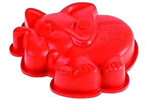 PAVONI ITALIA FRT132 MINI ELEFANTINO迷你硅胶蛋糕模具-红色(亚马逊进口直采,意大利品牌)