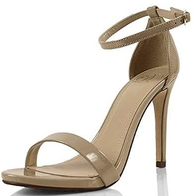 Delicious 女式 Jaiden 人造磨砂皮宽肩带单鞋底高跟鞋 10.16 厘米 深米色 6.5 B(M) US