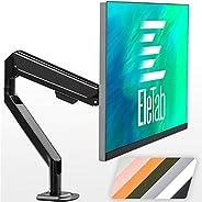 EleTab 单显示器桌面支架 – 高度可调的单显示器支架,适合17至32英寸的电脑屏幕,承重高达19.8磅(约45.7公斤),黑色