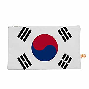 """KESS InHouse Bruce Stanfield """"韩国国旗""""白色数码用品包,21.59 cm x 15.24 cm (BS1019AEP04)"""