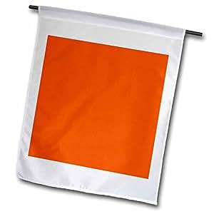 颜色–亮橙色–旗帜 12 x 18 inch Garden Flag