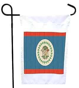Rikki Knight 伯利兹国旗在做旧木屋或花园旗上,带 27.94 x 27.94 cm 图片,30.48 x 45.72 cm