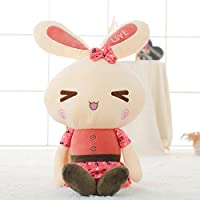 好马 小兔子抱枕公仔毛绒玩具小白兔流氓兔女生布娃娃可爱情侣 红色三角眼 60cm