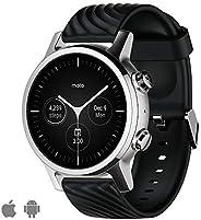 WearOs 智能手表適用于摩托羅拉 Moto 360 3。 代,不銹鋼外殼,帶20毫米表帶,全天電池,鋼灰色