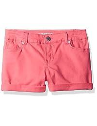 Calvin Klein 女童彩色女士卷边牛仔短裤