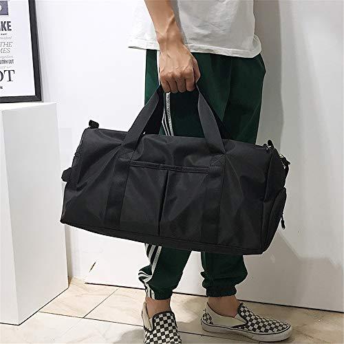 フィットネスパックドライ&ウェットセパレーションヨガバッグトレンドファッションショルダースポーツバッグショートパンツトラベルバッグ(ブラック)