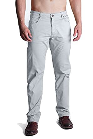 Barbell Apparel 男士斜纹棉布裤 灰色 28W x 34L
