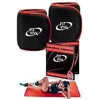 Fit Viva 男士脚踝配重套装 – 男女皆宜的手腕重量(3.2公斤) – 适合举重、核心和腿部训练或有氧运动 – *的GlFT