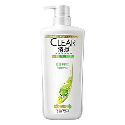 商品clear清扬去屑洗发露控油平衡型白瓶750ml (新老包装随机发货)