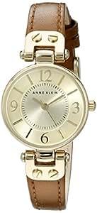 Anne Klein 安妮克莱因 棕色皮质表带 女士石英腕表 10-9442
