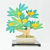 Kami-bonsai 纸工艺品和日本传统艺术套件垫/沙库拉/Momiji/Kinzu 带明信片 Kinzu 13561004