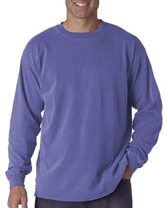 Comfort Colors Ringspun Garment-Dyed Long-Sleeve T-Shirt (C6014)- PERIWINKLE, L