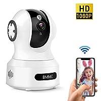 婴儿监视器,OMMC 无线家用*摄像头 1080P IP 摄像头,夜视/双向音频/运动检测,可与Alexa配合使用