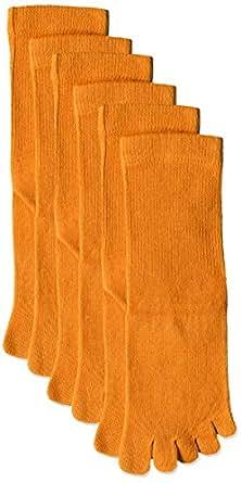 (赛诗丽) Cecile 5五趾袜中厚(3双装)  橙色 日本 22-24-(日本サイズM相当)