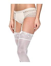 DKNY 女士透明蕾丝袜带连裤裤