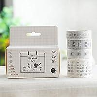4卷装和纸胶带手帐装饰素材工具小贴纸樱花彩色可爱印花胶布套装计划1530x5mm31卷