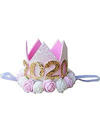 Kirei Sui 婴儿粉色白色玫瑰花闪亮 2019 年皇冠头带