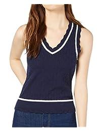 Maison Jules 棉质毛衣背心蓝色 L 码