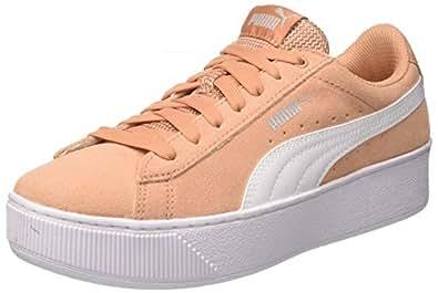 PUMA 彪马 女式 Vikky防水台低帮运动鞋, Dusty Coral White, 4 UK